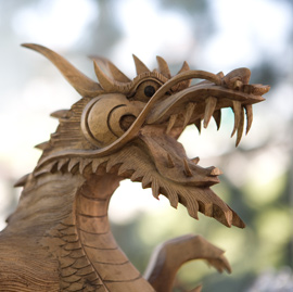 [Photo of Dragon Sculpture]